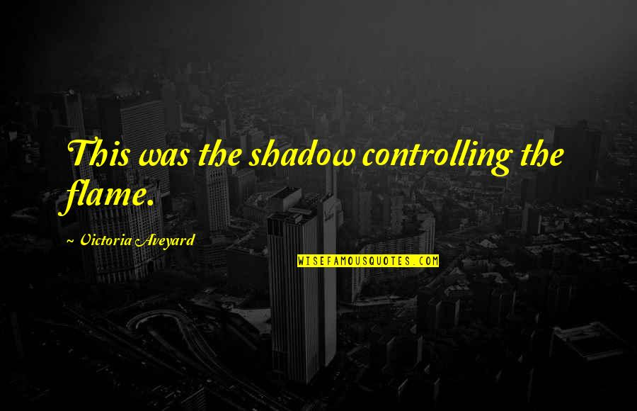 Funny Pope Quotes By Victoria Aveyard: This was the shadow controlling the flame.