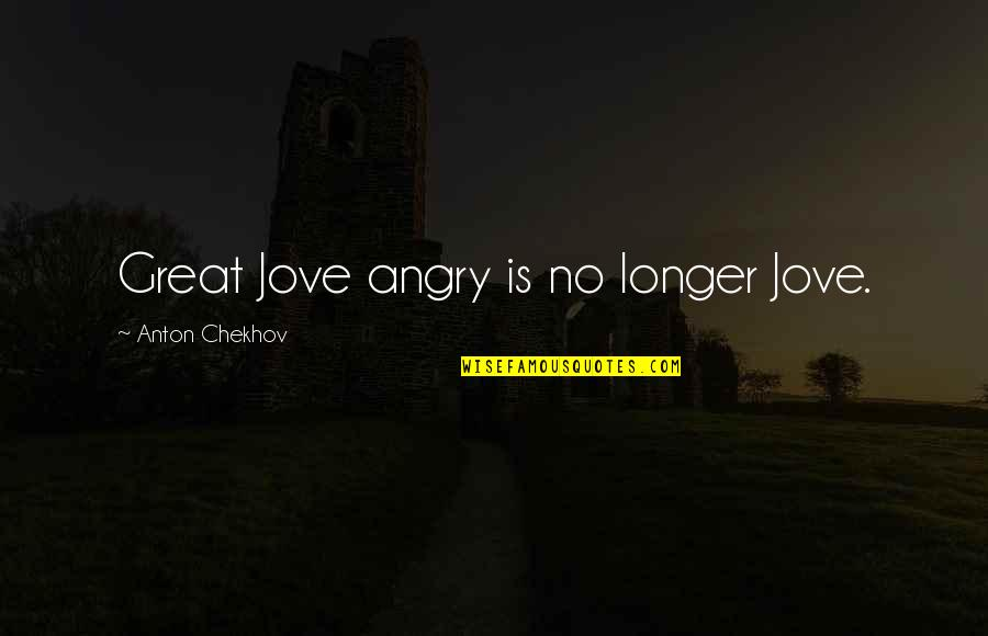 Funny Sheneneh Quotes By Anton Chekhov: Great Jove angry is no longer Jove.