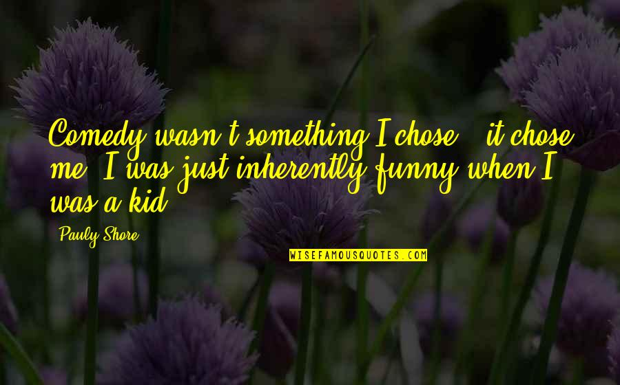 Funny When Quotes By Pauly Shore: Comedy wasn't something I chose - it chose