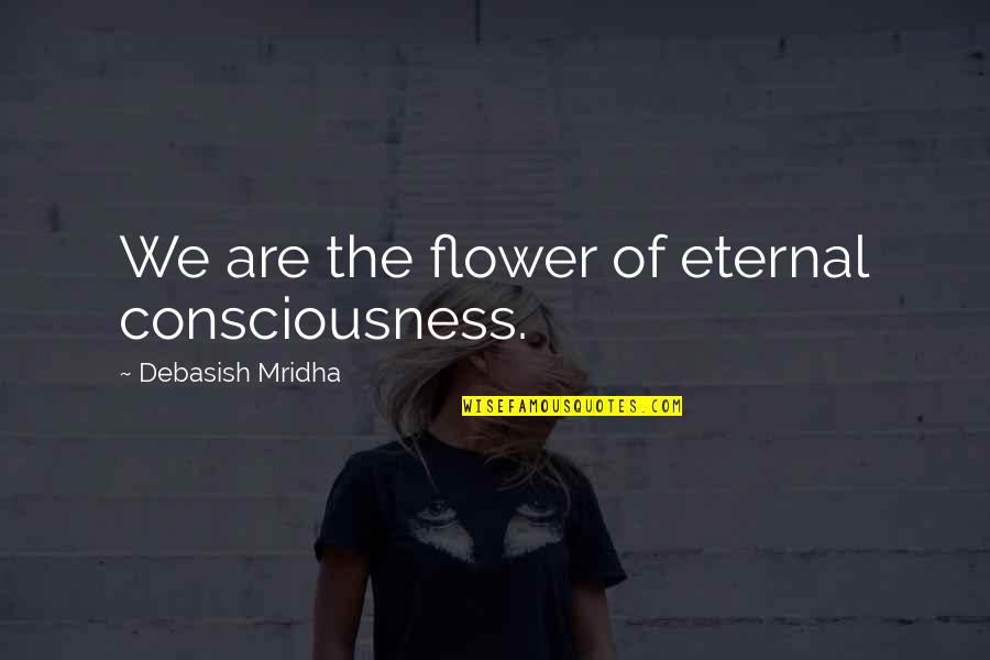 Funny Workaholics Quotes By Debasish Mridha: We are the flower of eternal consciousness.