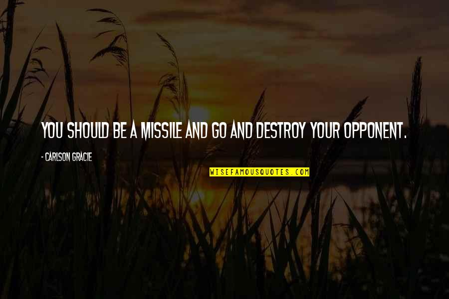 Furied Quotes By Carlson Gracie: You should be a missile and go and