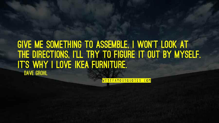 Furniture Quotes By Dave Grohl: Give me something to assemble, I won't look