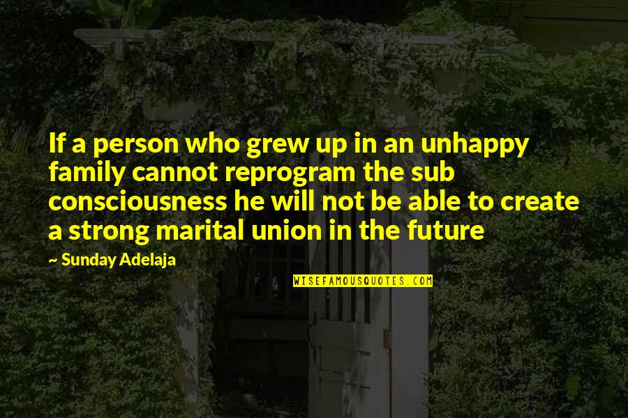 Future Family Life Quotes By Sunday Adelaja: If a person who grew up in an
