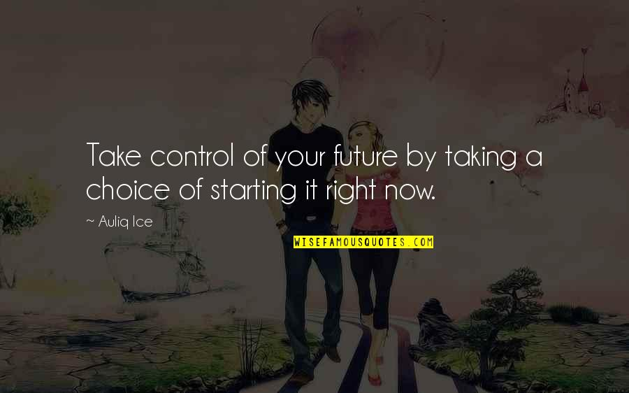 Future Self Quotes By Auliq Ice: Take control of your future by taking a