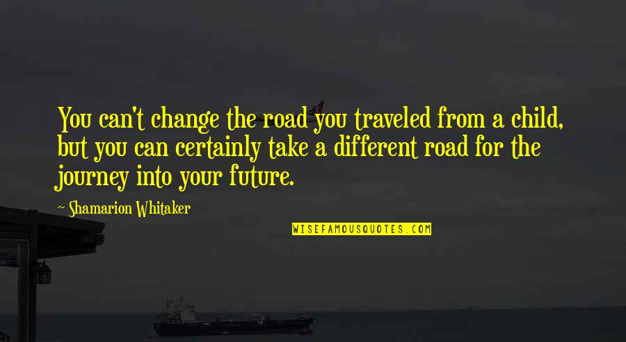 Future Self Quotes By Shamarion Whitaker: You can't change the road you traveled from