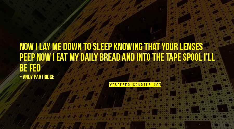 Future Wife Funny Quotes By Andy Partridge: Now I lay me down to sleep Knowing