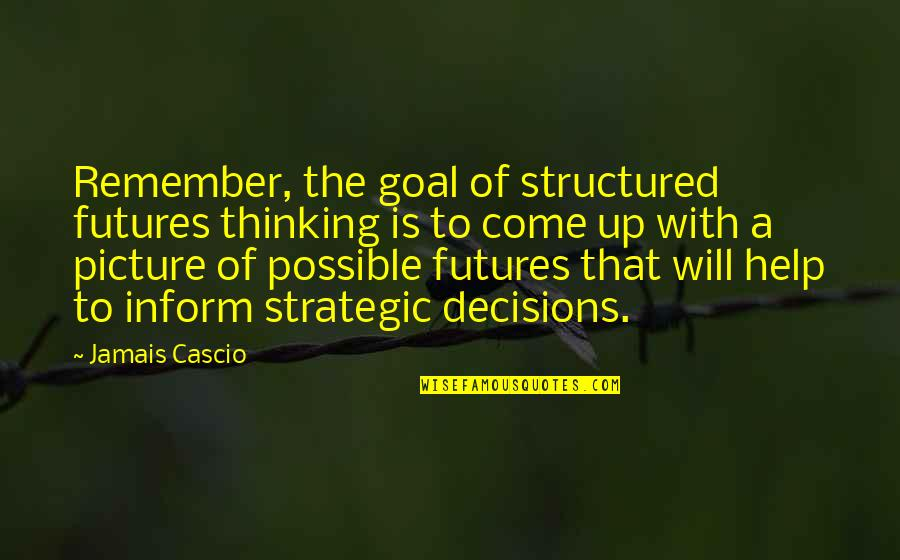 Futures Quotes By Jamais Cascio: Remember, the goal of structured futures thinking is