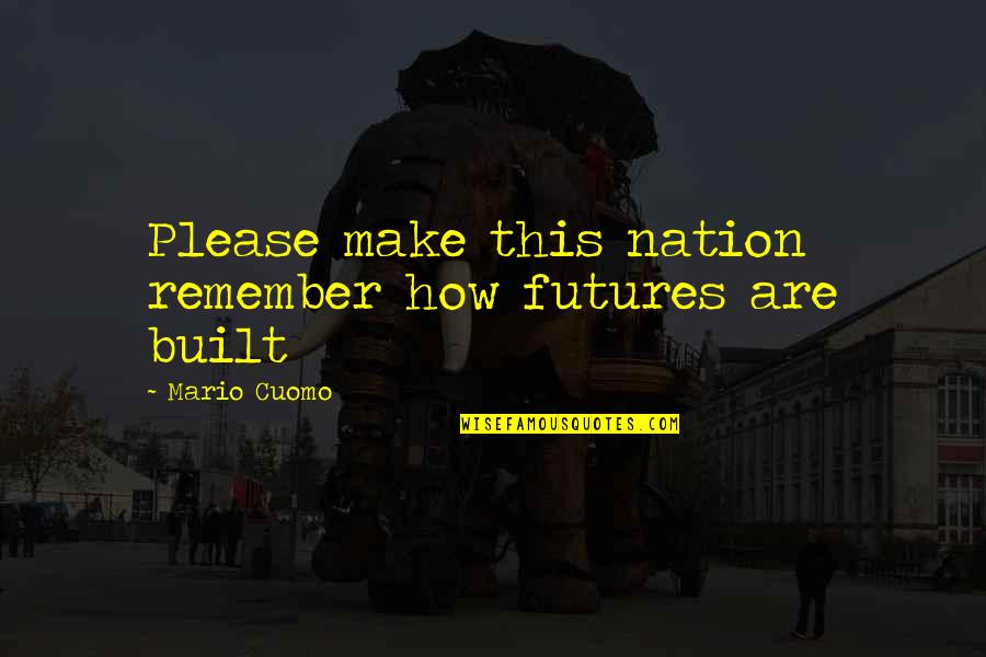 Futures Quotes By Mario Cuomo: Please make this nation remember how futures are