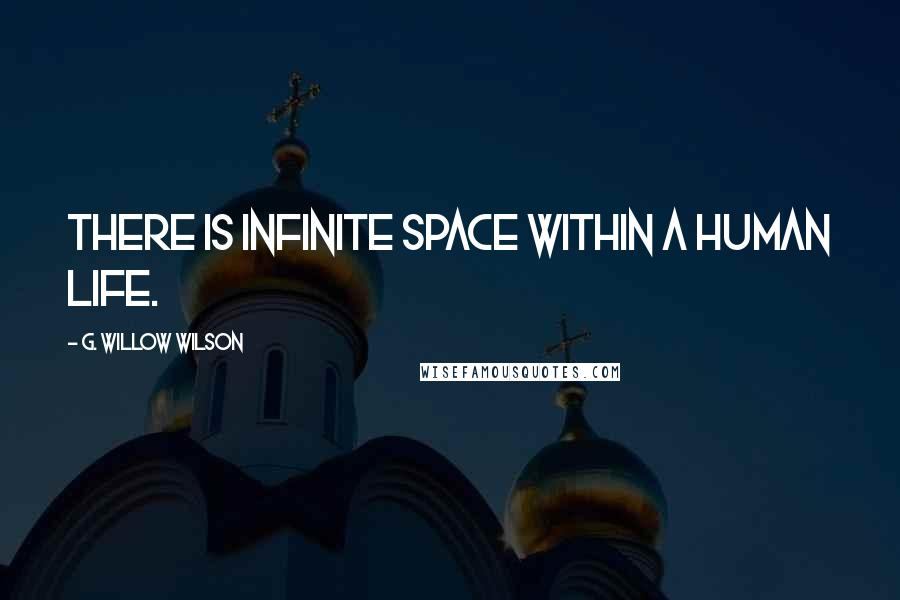 G. Willow Wilson quotes: There is infinite space within a human life.