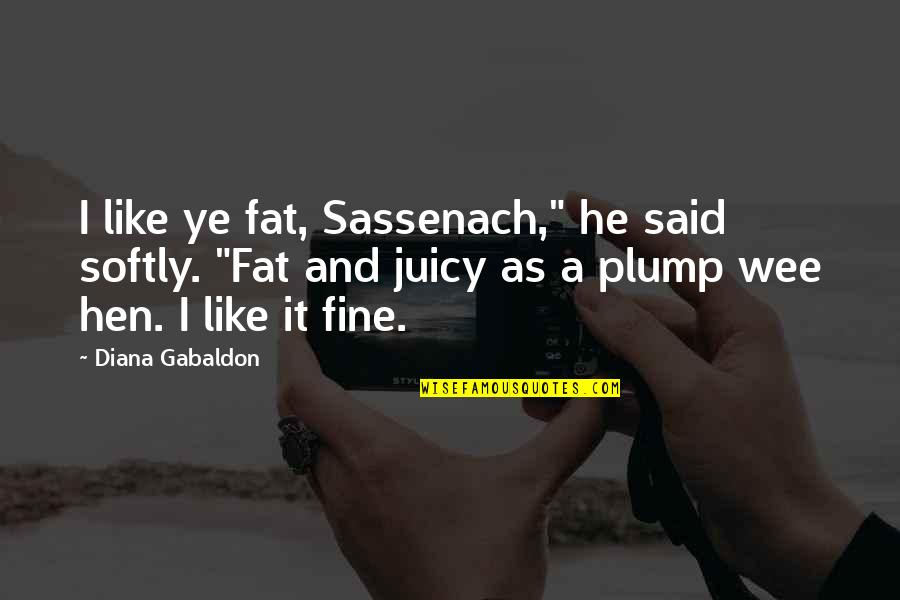 "Gabaldon Quotes By Diana Gabaldon: I like ye fat, Sassenach,"" he said softly."