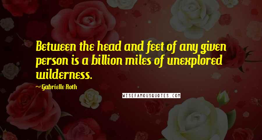 Gabrielle Roth quotes: Between the head and feet of any given person is a billion miles of unexplored wilderness.