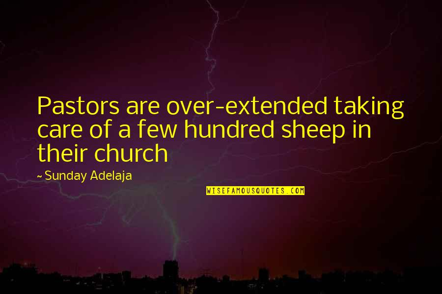 Gadget Freak Quotes By Sunday Adelaja: Pastors are over-extended taking care of a few