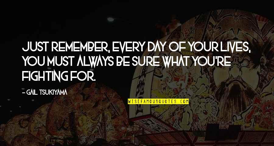 Gail Tsukiyama Quotes By Gail Tsukiyama: Just remember, Every day of your lives, you