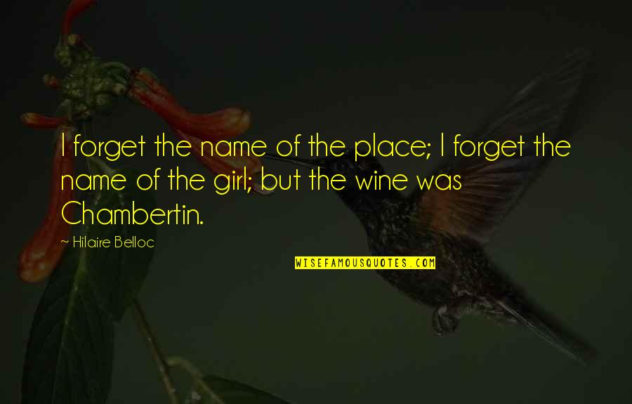 Galile Quotes By Hilaire Belloc: I forget the name of the place; I