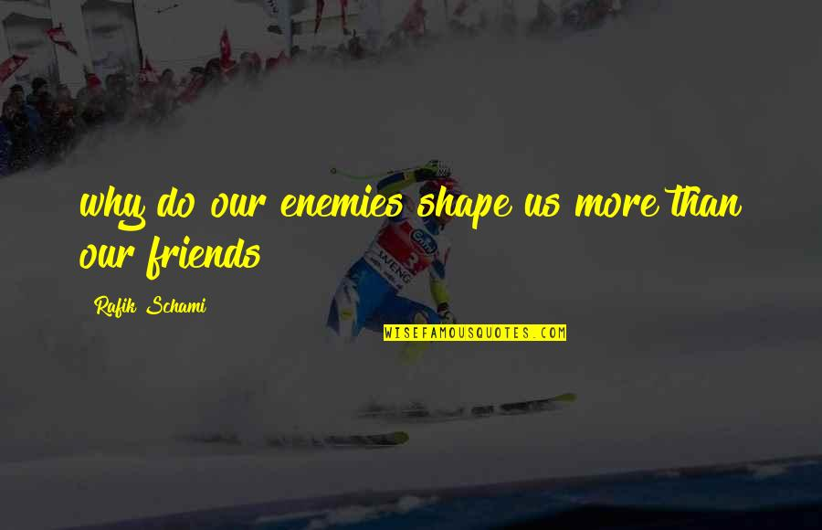 Galtung Peace Quotes By Rafik Schami: why do our enemies shape us more than