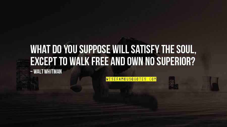 Game Of Throne Quotes By Walt Whitman: What do you suppose will satisfy the soul,