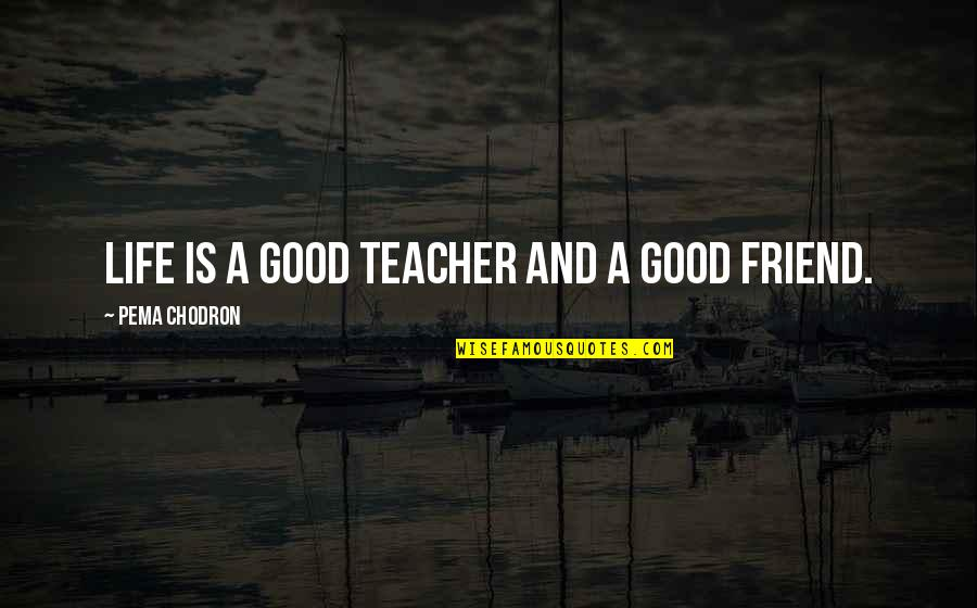 Gandhi Strengths And Weaknesses Quotes By Pema Chodron: LIFE is a good teacher and a good