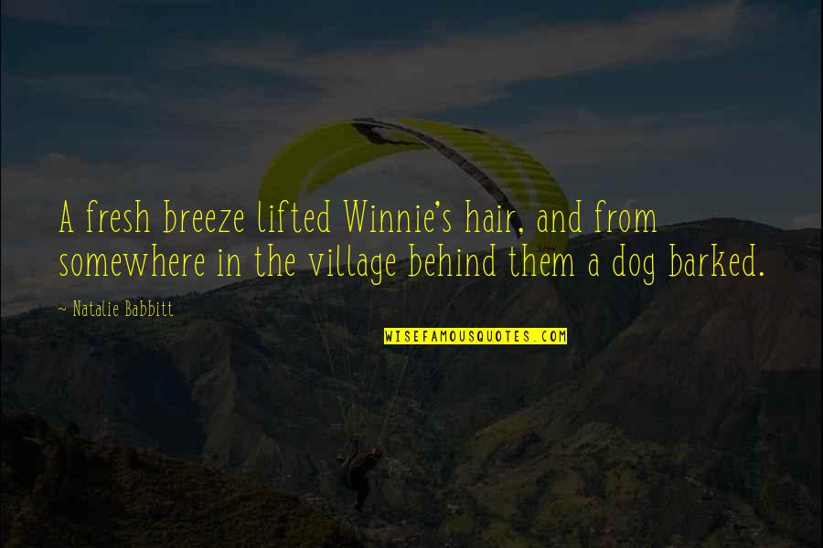Ganges Quotes By Natalie Babbitt: A fresh breeze lifted Winnie's hair, and from
