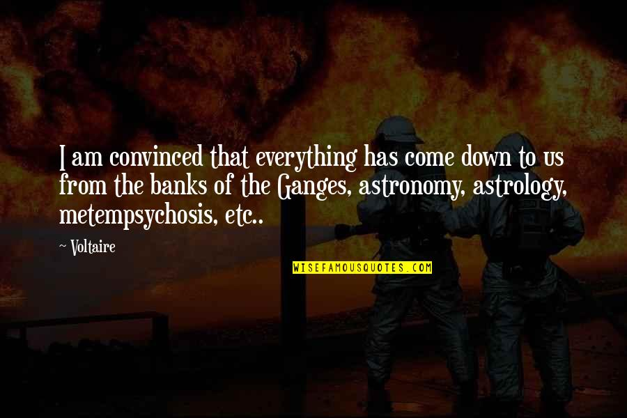 Ganges Quotes By Voltaire: I am convinced that everything has come down