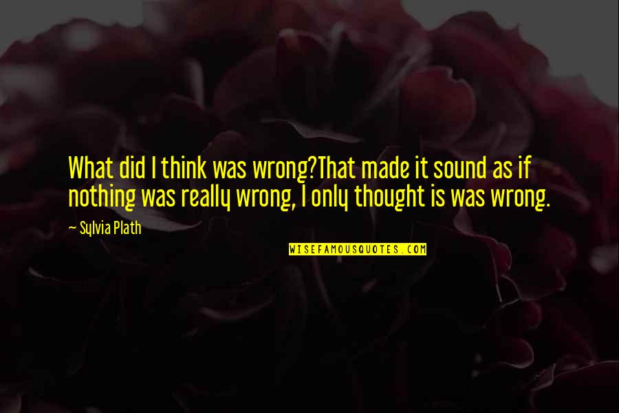 Garage Quotes Quotes By Sylvia Plath: What did I think was wrong?That made it