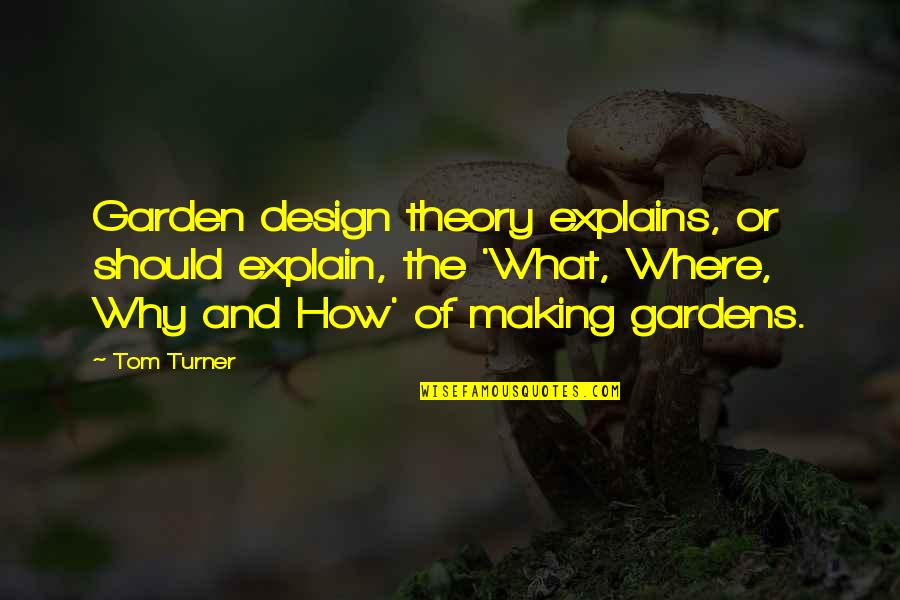 Garden Design Quotes By Tom Turner: Garden design theory explains, or should explain, the