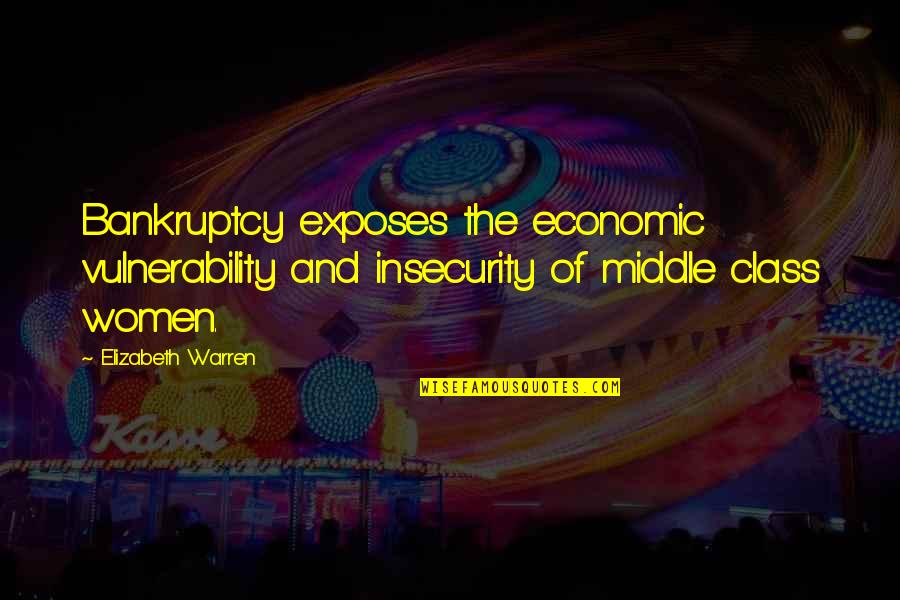 Garden Stepping Stones With Quotes By Elizabeth Warren: Bankruptcy exposes the economic vulnerability and insecurity of
