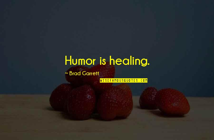 Garrett'd Quotes By Brad Garrett: Humor is healing.