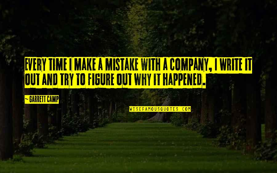 Garrett'd Quotes By Garrett Camp: Every time I make a mistake with a