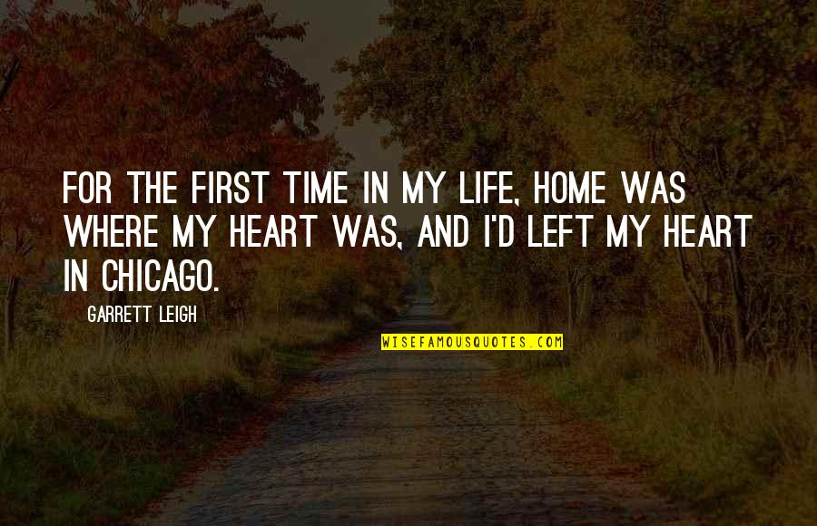 Garrett'd Quotes By Garrett Leigh: For the first time in my life, home