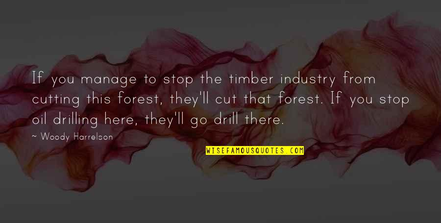 Garth Brook Quotes By Woody Harrelson: If you manage to stop the timber industry