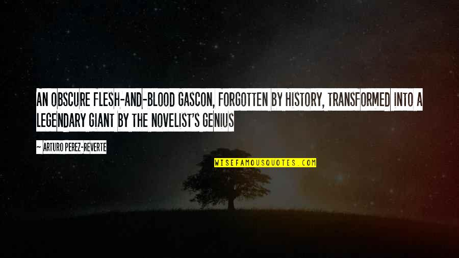 Gascon Quotes By Arturo Perez-Reverte: An obscure flesh-and-blood Gascon, forgotten by History, transformed