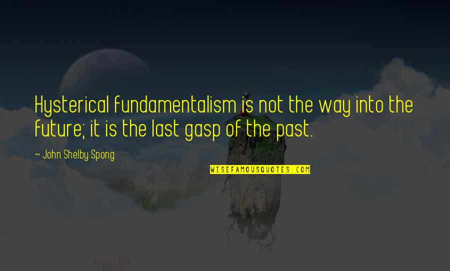 Gasp Quotes By John Shelby Spong: Hysterical fundamentalism is not the way into the