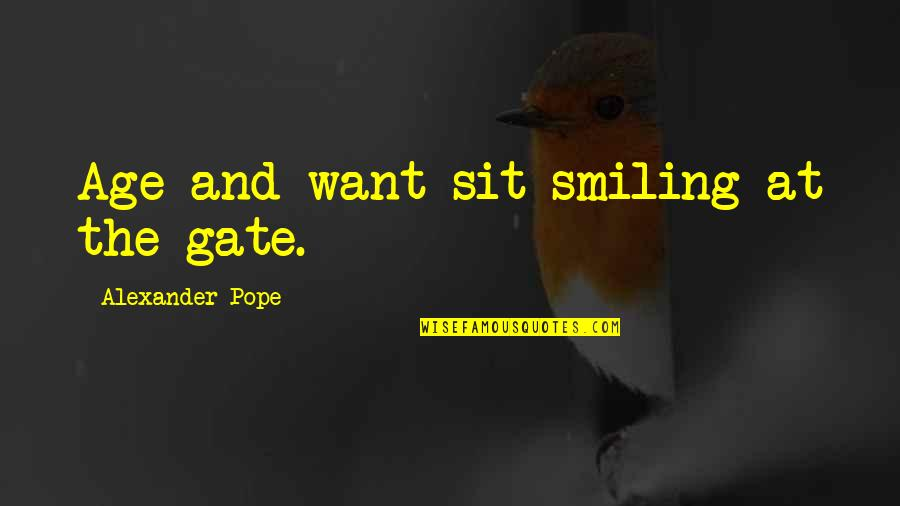 Gate Quotes By Alexander Pope: Age and want sit smiling at the gate.