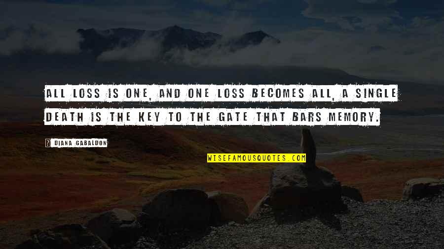 Gate Quotes By Diana Gabaldon: All loss is one, and one loss becomes