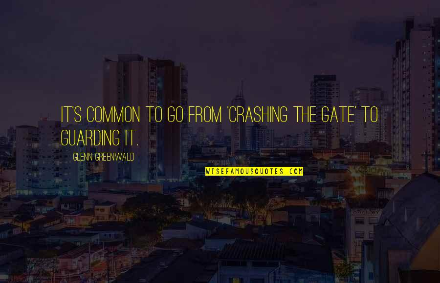 Gate Quotes By Glenn Greenwald: It's common to go from 'crashing the gate'