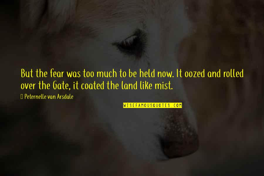 Gate Quotes By Peternelle Van Arsdale: But the fear was too much to be