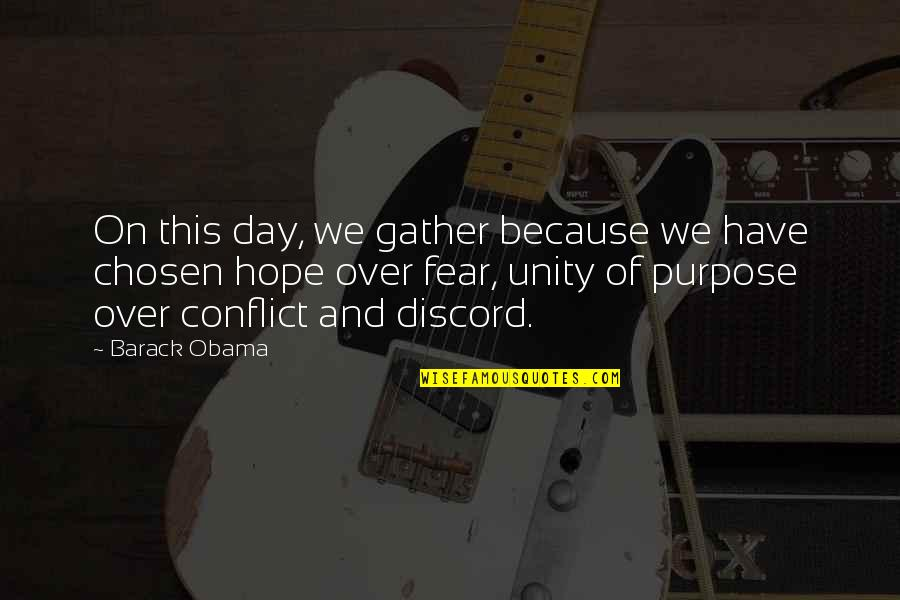 Gather'd Quotes By Barack Obama: On this day, we gather because we have