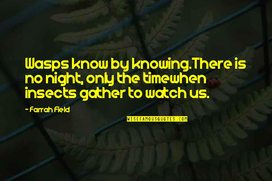 Gather'd Quotes By Farrah Field: Wasps know by knowing.There is no night, only