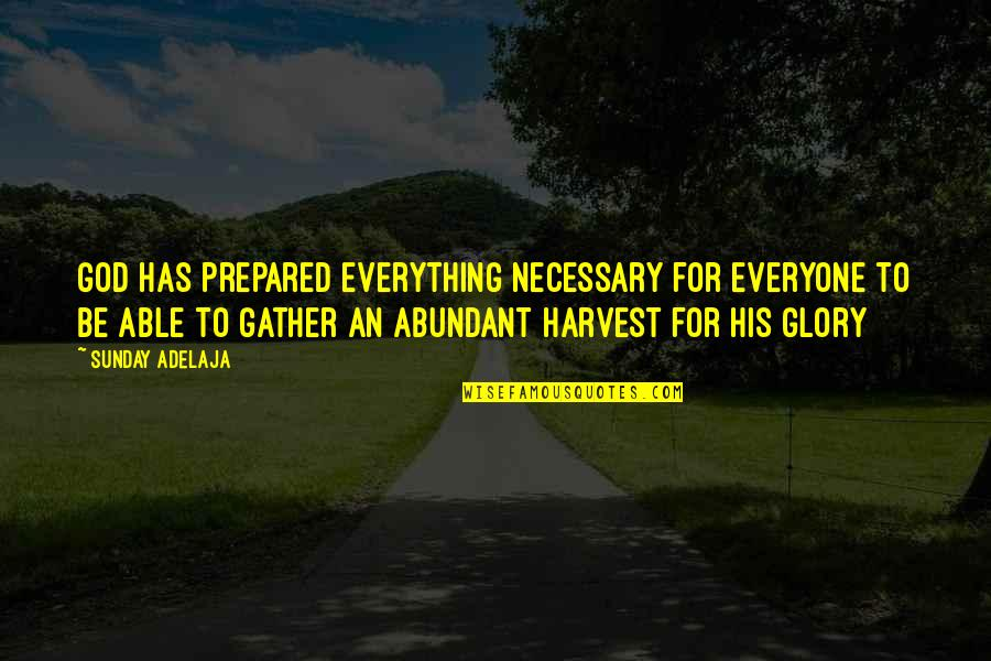 Gather'd Quotes By Sunday Adelaja: God has prepared everything necessary for everyone to