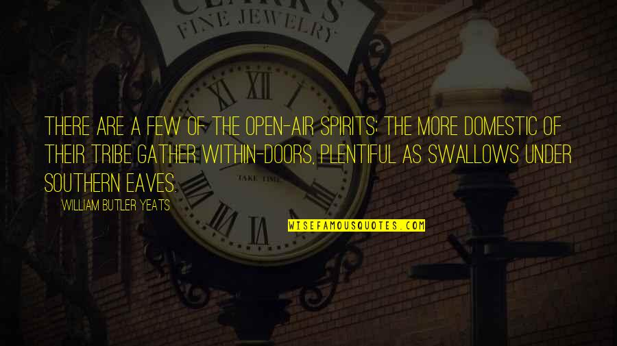 Gather'd Quotes By William Butler Yeats: There are a few of the open-air spirits;