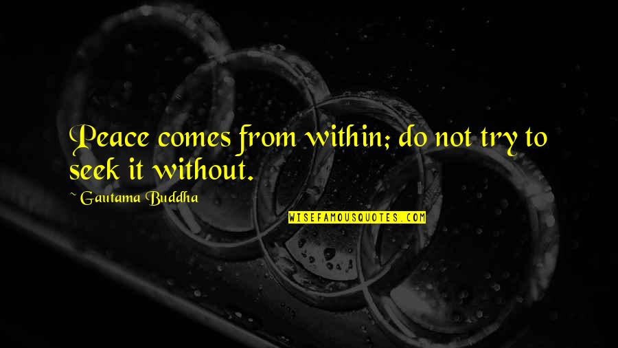 Gautama Buddha Peace Quotes By Gautama Buddha: Peace comes from within; do not try to