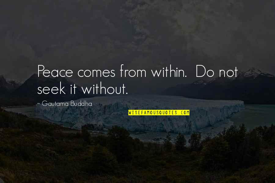 Gautama Buddha Peace Quotes By Gautama Buddha: Peace comes from within. Do not seek it