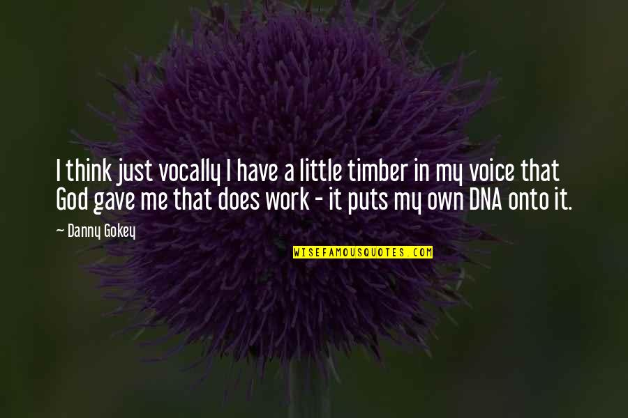 Gave Quotes By Danny Gokey: I think just vocally I have a little