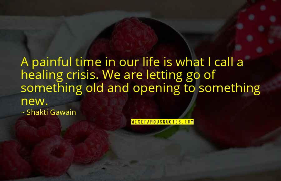 Gawain's Quotes By Shakti Gawain: A painful time in our life is what