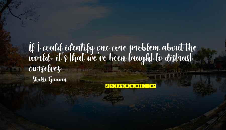 Gawain's Quotes By Shakti Gawain: If I could identify one core problem about