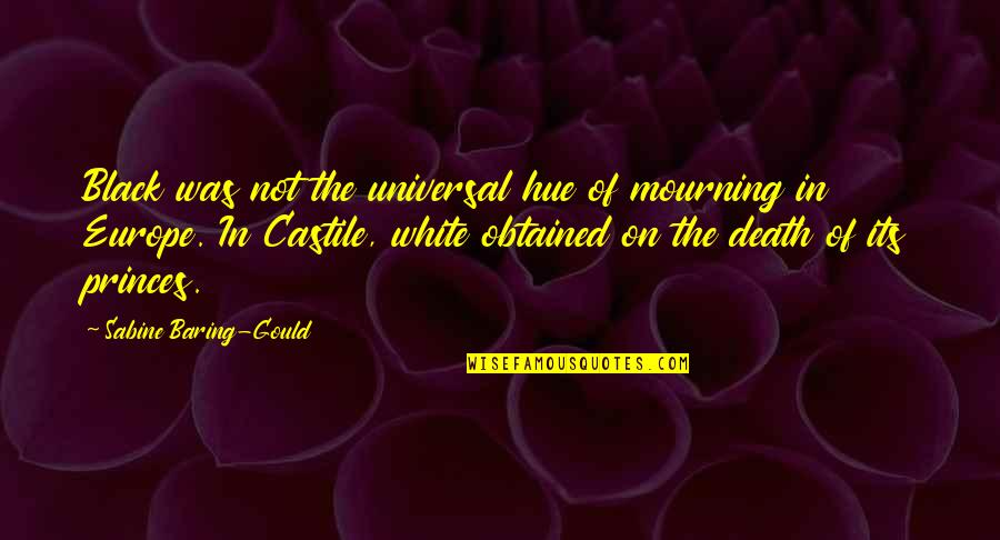 Gcmg Quotes By Sabine Baring-Gould: Black was not the universal hue of mourning