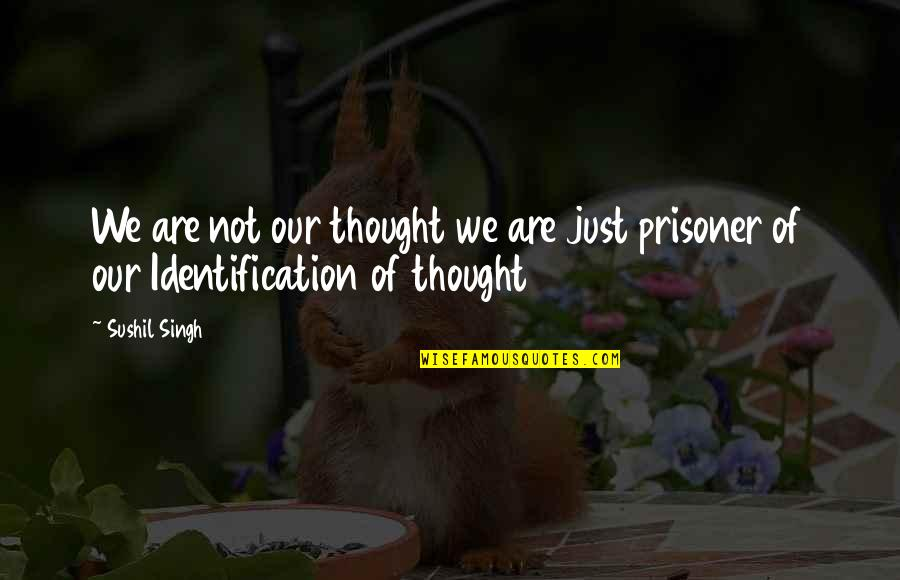 Gender Constructs Quotes By Sushil Singh: We are not our thought we are just