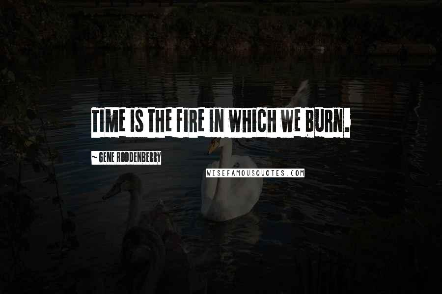 Gene Roddenberry quotes: Time is the fire in which we burn.
