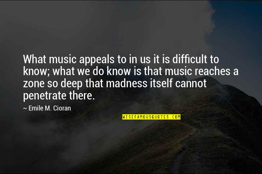 General Tadamichi Kuribayashi Quotes By Emile M. Cioran: What music appeals to in us it is