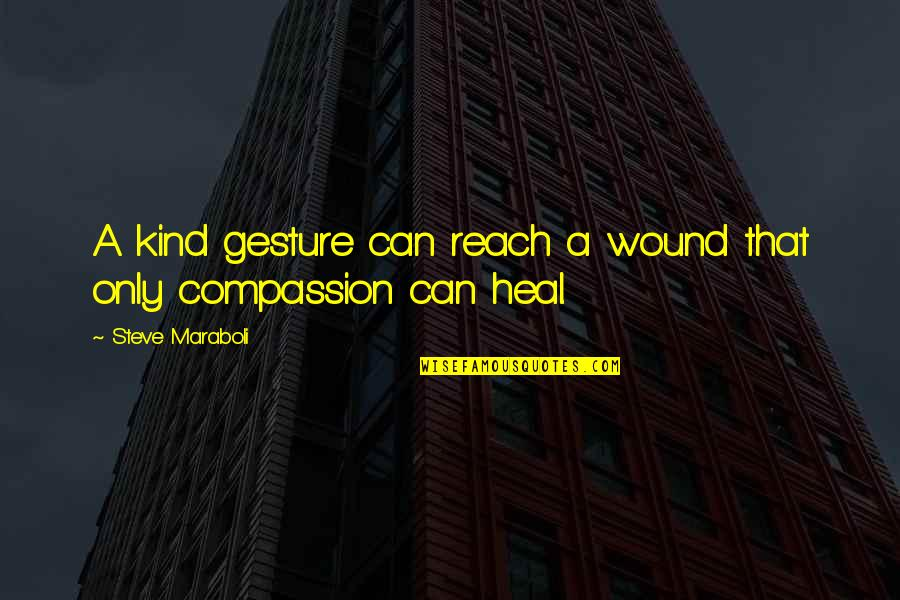 Generosity Life Quotes By Steve Maraboli: A kind gesture can reach a wound that